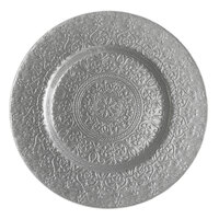 The Jay Companies 13 inch Round Alinea Silver Glass Charger Plate