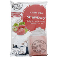 Big Train Strawberry Blended Creme Frappe Mix - 3.5 lb.