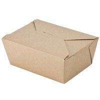 8 inch x 6 inch x 4 inch ChampPak Retro Kraft Paper #4 Take-Out Container - 160 / Case