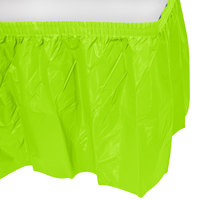 Creative Converting 743123 14' x 29 inch Fresh Lime Disposable Plastic Table Skirt