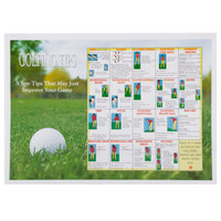 Hoffmaster 310630 10 inch x 14 inch Golf Design Paper Placemat - 1000/Case