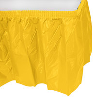 Creative Converting 10041 14' x 29 inch School Bus Yellow Disposable Plastic Table Skirt