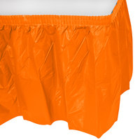 Creative Converting 10044 14' x 29 inch Sunkissed Orange Disposable Plastic Table Skirt