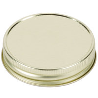 Libbey 92136 Gold Metal Drinking Jar Lid - 12/Pack