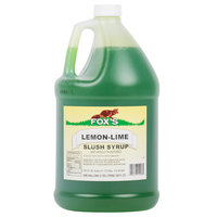 Fox's Lemon-Lime Slush Syrup - (4) 1 Gallon Containers / Case