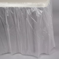 Creative Converting 10017 14' x 29 inch Clear Disposable Plastic Table Skirt