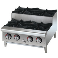 Star Max 604HF-SU 4 Burner Step Up Countertop Range / Hot Plate 100,000 BTU - 24 inch