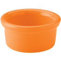 Hall China 30362325 Tangerine 2.5 oz. Colorations Round China Ramekin - 36/Case