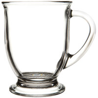 Anchor Hocking 83045A Customizable 16 oz. Glass Cafe Mug - 6 / Case