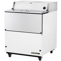 True TMC-34 34 inch White One Sided Milk Cooler
