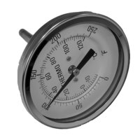 All Points 62-1014 Thermometer; 0 - 250 Degrees Fahrenheit; 1/2 inch MPT Rear Mount