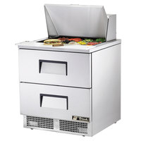 True TFP-32-12M-D-2 32 inch Mega Top Two Drawer Food Prep Refrigerator