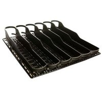 True 932635 Trueflex Black Bottle Organizer - 3 1/8 inch x 17 7/8 inch - 36 Total Lanes; for 20 oz. Bottles