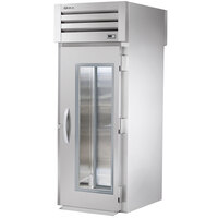 True STR1RRT-1G-1S Specification Series One Section Roll Through Refrigerator with Front Glass and Rear Solid Doors - 37 Cu. Ft.