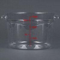 Cambro RFSCW12 Camwear 12 Qt. Clear Round Food Storage Container