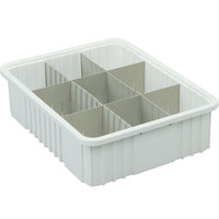Short Metro MDS91035N Gray Tote Box Divider - 8 inch x 4 inch