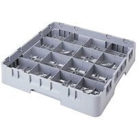 Cambro 16S318151 Camrack 3 5/8 inch High Soft Gray 16 Compartment Glass Rack