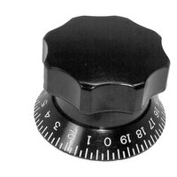 All Points 22-1061 2 7/8 inch Slicer Table Adjusting Knob (0-19)