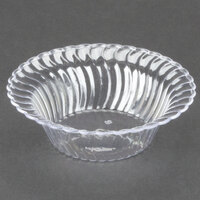 Fineline Flairware Clear 205-CL 5 oz. Plastic Bowl - 5 inch x 2 3/4 inch x 1 1/2 inch 180 / Case