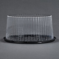 D&W Fine Pack G27 9 inch 2-3 Layer Cake Display Container with Clear Dome Lid - 100 / Case