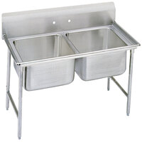 Advance Tabco 93-42-48 Regaline Two Compartment Stainless Steel Sink - 60 inch