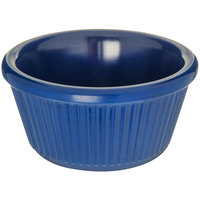 Carlisle S28260 3 oz. Cobalt Blue Fluted Melamine Ramekin - 48/Case
