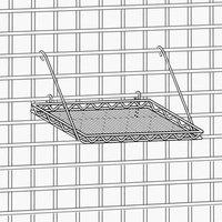 Metro PBA-MSK3 SmartWall G3 Metroseal 3 Square Grid Shelf - 16 3/4 inch x 16 3/4 inch