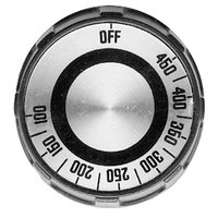 Star Y9-70701-17 Equivalent 2 inch Black Grill / Oven Thermostat Dial with Silver Insert (Off, 100-450)