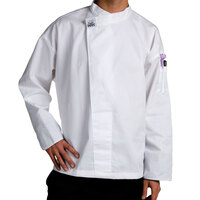 Chef Revival T001-XL Customizable Chef-Tex Poly-Cotton Pull-Over White Chef Tunic with Black Cuffs Size 48 (XL)