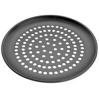American Metalcraft HCCTP20SP 20 inch SuperPerforated Coupe Pizza Pan - Hard Coat Anodized Aluminum