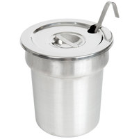 Nemco 66088-2 4 Qt. Stainless Steel Inset Kit with Cover and Ladle