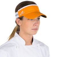 Orange Headsweats Customizable 7703-207 CoolMax Chef Visor