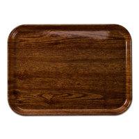 Cambro 2632304 10 7/16 inch x 12 3/4 inch (26,5 x 32,5 cm) Rectangular Metric Country Oak Fiberglass Camtray - 12/Case