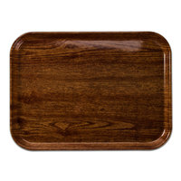 Cambro 1014304 10 5/8 inch x 13 3/4 inch Rectangular Country Oak Fiberglass Camtray - 12/Case