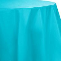 Creative Converting 703552 82 inch Bermuda Blue OctyRound Plastic Table Cover - 12 / Case