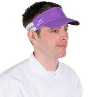 Purple Headsweats Customizable 7703-232 CoolMax Chef Visor