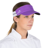 Purple Headsweats Customizable 7703-232 CoolMax Chef Visor