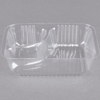 Dart C56NT2 ClearPac 2 Compartment Small Plastic Nacho Tray - 500/Case