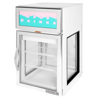 Beverage-Air CR5GE-1W-G White Countertop Display Refrigerator with Swing Door - 5 cu. ft.