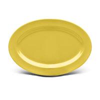 Elite Global Solutions D69OV Urban Naturals Olive Oil 9 1/4 inch x 6 1/4 inch Oval Melamine Platter
