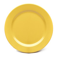 Elite Global Solutions D1175PL Rio Yellow 11 3/4 inch Round Melamine Plate