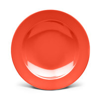 Elite Global Solutions D12PB Rio Spring Coral 24 oz. Round Melamine Pasta / Soup Bowl