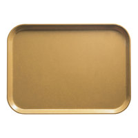 Cambro 2632514 10 7/16 inch x 12 3/4 inch (26,5 x 32,5 cm) Rectangular Metric Earthen Gold Fiberglass Camtray - 12/Case