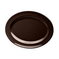 Elite Global Solutions D1014OV Urban Naturals Aubergine 14 1/2 inch x 10 1/2 inch Oval Melamine Platter