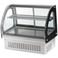 Vollrath 40845 36 inch Curved Glass Drop In Heated Countertop Display Cabinet
