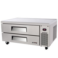 Turbo Air TCBE-48SDR 48 inch Two Drawer Refrigerated Chef Base - 9.2 cu. ft.