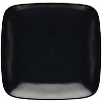 Elite Global Solutions D11SQR Radius 11 3/8 inch Black Rounded Edge Square Plate