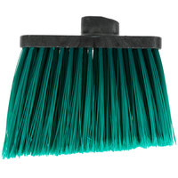 Carlisle 3686709 Duo-Sweep Medium Duty Angled Broom Head with Flagged Green Bristles