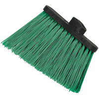 Carlisle 3686709 Duo-Sweep Medium Duty Angled Broom Head with Flagged Green Bristles - 12/Case