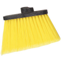 Carlisle 3686704 Duo-Sweep Medium Duty Angled Broom Head with Flagged Yellow Bristles - 12/Case